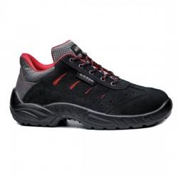 Δερμάτινα παπούτσια εργασίας TOLEDO S1P SRC μαύρο/κόκκινο, BASE