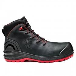 Δερμάτινα παπούτσια εργασίας BE-UNIFORM TOP S3 HRO CI HI SRC μαύρο/κόκκινο, BASE