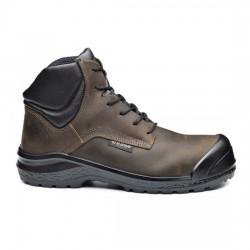 Δερμάτινα παπούτσια εργασίας BE BROWNY TOP S3 CI SRC ΚΑΦΕ/ΜΑΥΡΟ, BASE