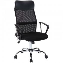 Καρέκλα Γραφείου μαύρη με ανάκλιση BSF1800 (033417)