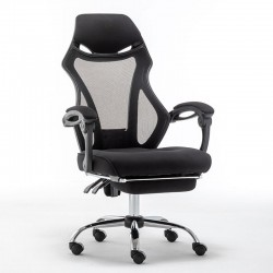 Καρέκλα Γραφείου μαύρη με ανάκλιση & υποπόδιο BSF1805 (035565)