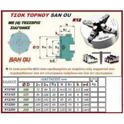 ΤΣΟΚ ΤΟΡΝΟΥ SAN OU ΜΕ 4 ΣΙΑΓΟΝΕΣ Κ12 Φ.250 (K12250)