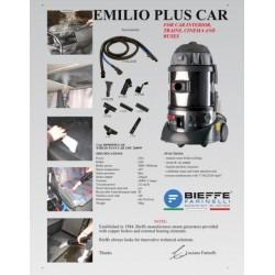 Επαγγελματική Σκούπα Υγρών-Στερεών Με Ατμό (Ατμοκαθαριστής) 1400W 2 Σταδίων Emilio Plus Bieffe Farinelli Italy